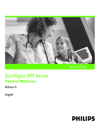 Servicehandboek PhilipsMedical SureSigns VM Series
