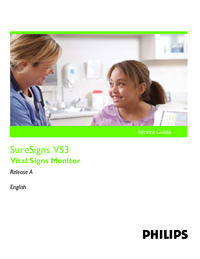 Manuale di servizio PhilipsMedical SureSigns VS3