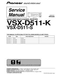 Manuale di servizio Pioneer VSX-D511-K