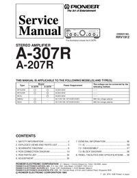 Service Manual Pioneer A-307R STEREO AMPLIFIER