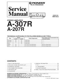 Serviceanleitung Pioneer A-207R