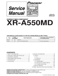 Service Manual Pioneer XR-A550MD