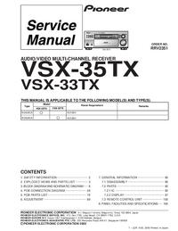 Service Manual Pioneer VSX-35TX