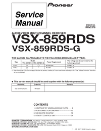 Service Manual Pioneer VSX-859RDS-G
