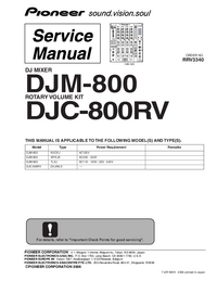 User Manual Pioneer DJC-800RV