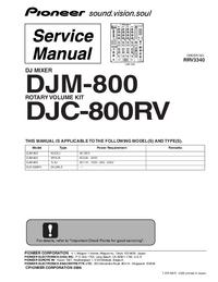 Руководство пользователя Pioneer DJM-800