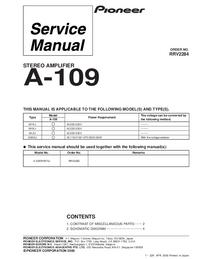 Service Manual Pioneer A-109