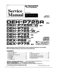 Manual de serviço Pioneer DEH-P725R