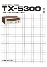 Instrukcja obsługi Pioneer TX-5300