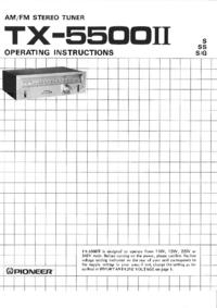 Manual do Usuário Pioneer TX-5500II