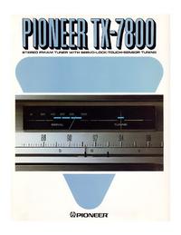 Datasheet Pioneer TX-7800
