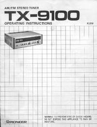 Manual del usuario Pioneer TX-9100