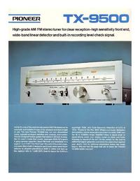 folha de dados Pioneer TX-9500