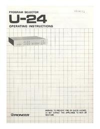 Gebruikershandleiding Pioneer U-24