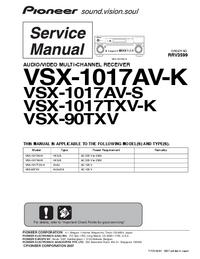 Service Manual Pioneer VSX-1017TXV-K