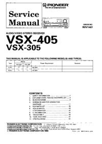 Servicehandboek Pioneer VSX-305