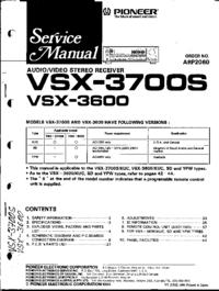 Instrukcja serwisowa Pioneer VSX-3600