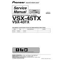 Instrukcja serwisowa Pioneer VSX-45TX