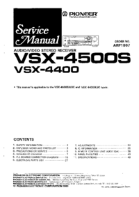 Instrukcja serwisowa Pioneer VSX-4500S