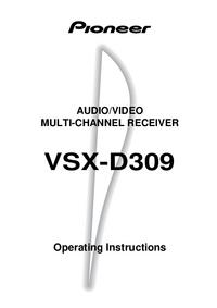 Bedienungsanleitung Pioneer VSX-D309