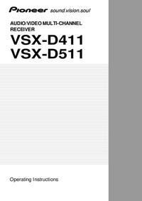 Instrukcja obsługi Pioneer VSX-D411