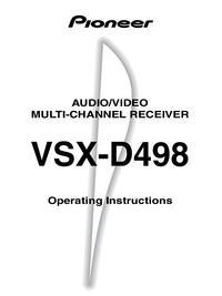 Bedienungsanleitung Pioneer VSX-D498