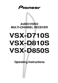 Bedienungsanleitung Pioneer VSX-D710S