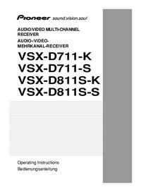 Bedienungsanleitung Pioneer VSX-D711-K