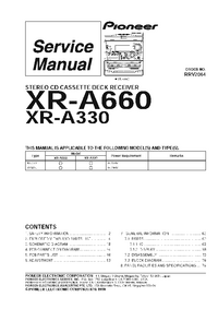 Instrukcja serwisowa Pioneer XR-A660
