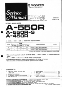 Service Manual Pioneer A-550R-S