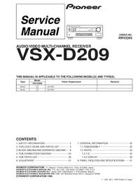 Manuale di servizio Pioneer VSX-D209