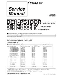 Part List Pioneer DEH-P5100R-B