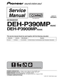 Service Manual Pioneer DEH-P3900MP