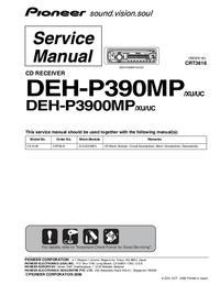 Manual de servicio Pioneer DEH-P3900MP