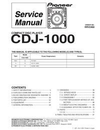 Serviceanleitung Pioneer CDJ-1000