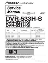 Manual de serviço Pioneer DVR-633H-S