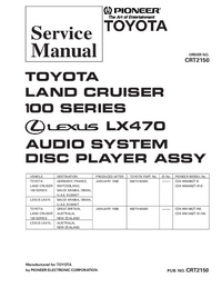 Manuale di servizio Pioneer CDX-M8086ZT