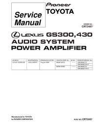 Service Manual Pioneer GM-8506ZT/E