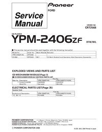 Serviceanleitung Pioneer YPM-2406ZF