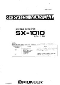 Руководство по техническому обслуживанию Pioneer SX -1010