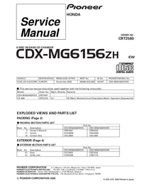 Serviceanleitung Pioneer CDX-MG6156ZH
