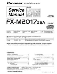Manual de serviço Pioneer FX-M2017ZSA