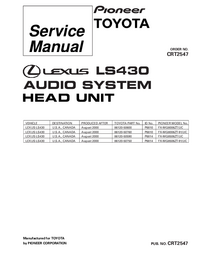 Service Manual Pioneer FX-MG8006ZT/UC