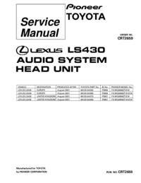 Service Manual Pioneer FX-MG8606ZT/EW