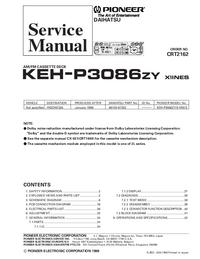 Manual de serviço Pioneer KEH-P3086ZY X1INES