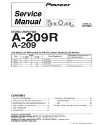 Instrukcja serwisowa Pioneer A-209R