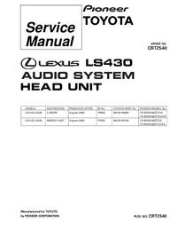Service Manual Pioneer FX-MG9106ZT/EW