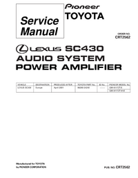 Service Manual Pioneer GM-8117ZT/E