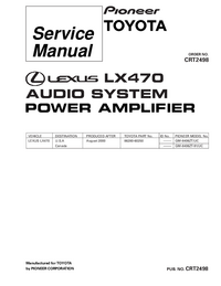 Service Manual Pioneer GM-8406ZT/UC