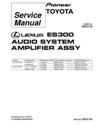 Service Manual Pioneer GM-8217ZT/WL